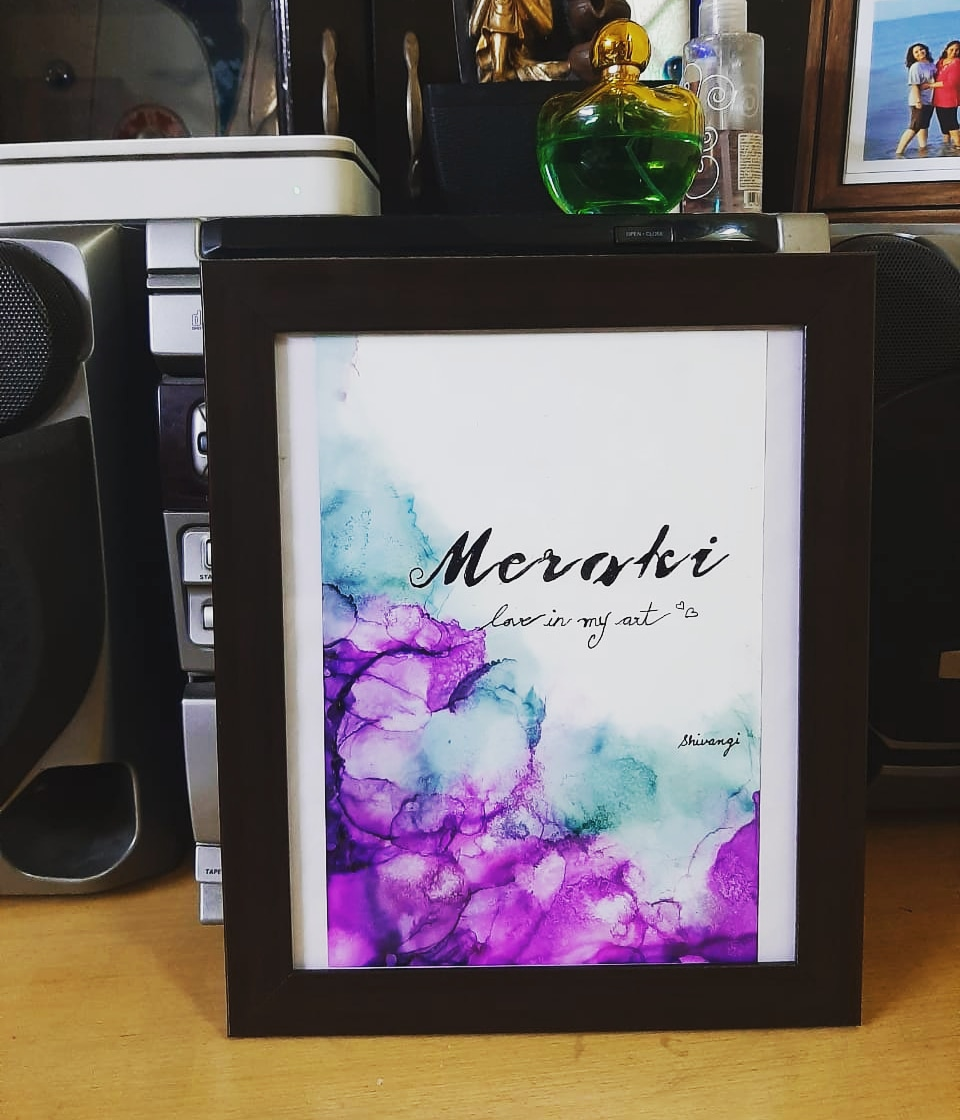 Making art or paintings using Alcohol ink